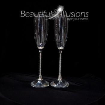 Pearl Stem Champagne Glasses