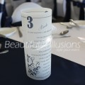 Table Menu and Table Number Luminaire