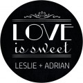 Chalkboard Love Is Sweet Personalised Wedding Sticker