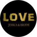 Love Personalised Round Wedding Sticker