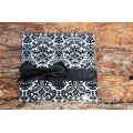 Majestic Black White Wedding Invitation