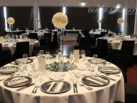 Black and White Wedding with Silver Charger Plates.jpg