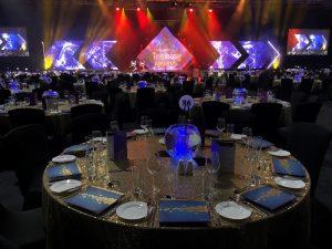 Awards Night Gold & Blue Theme