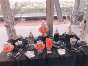 Black Silver & Pink Candy Buffet