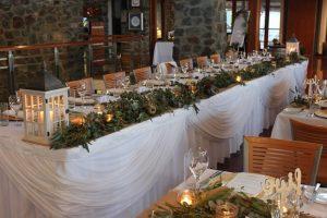 Bridal Table Draping White