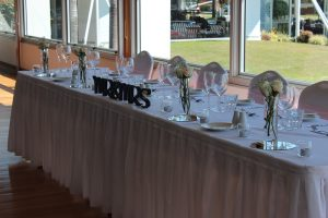 Bridal Table with Bud Vases