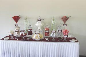 Burgundy Candy Buffet