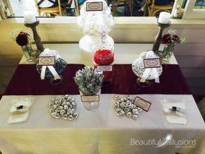 Burgundy & Silver Candy Buffet