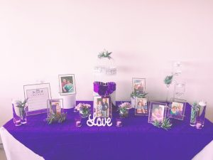 Love Story Table - Purple