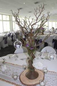 Manzanita Tree Brown with Hessian & Lace