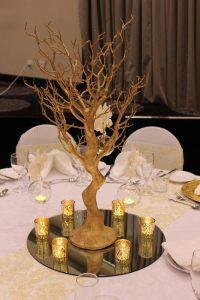 Manzanita Tree Gold with Tealights