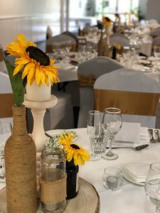 Mason Jar with Sunflowers