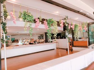 Melbourne Cup Hanging Greenery Floral Display