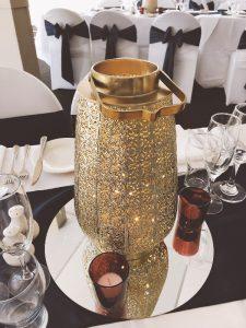 Morrocan Gold Urn