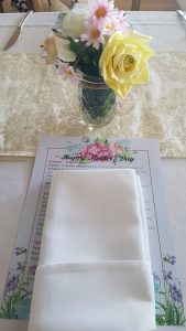 Mothers Day Table Decoration