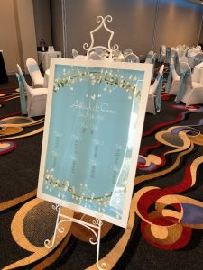 Seating Plan Light Blue
