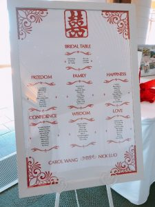 Seating Plan Red & White