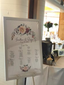 Seating Plan White with Floral