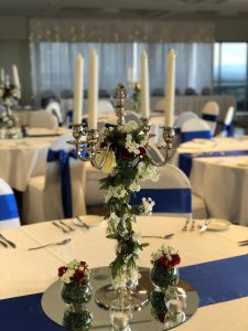 Silver Candelabra with Roses