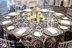 Silver Lantern with Cream Roses