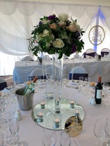 Tall Fresh Flower Table Centrepieces